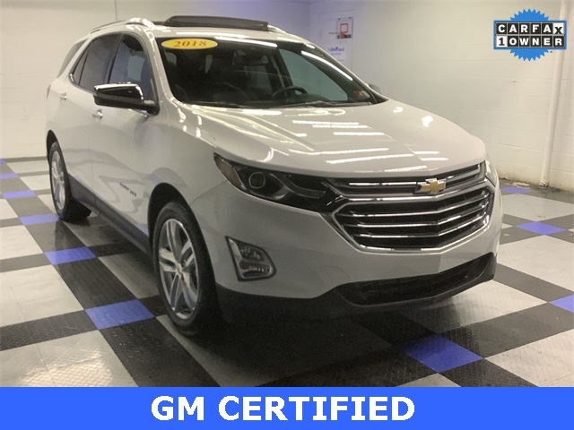 2018 Chevrolet Equinox Premier >> Certified Pre Owned 2018 Chevrolet Equinox Premier Awd